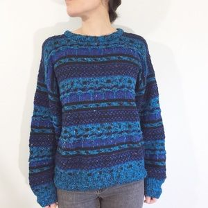 Vintage 90's Oversized Textured Sweater, Medium